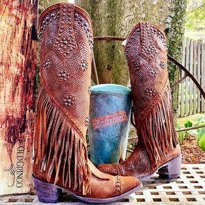 OLD GRINGO NEW Rare Fringe Studded Tall Boots 8.5